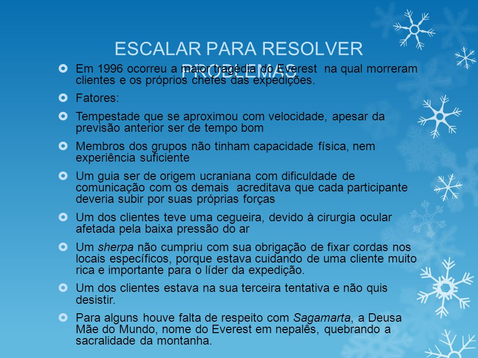ESCALAR PARA RESOLVER PROBLEMAS