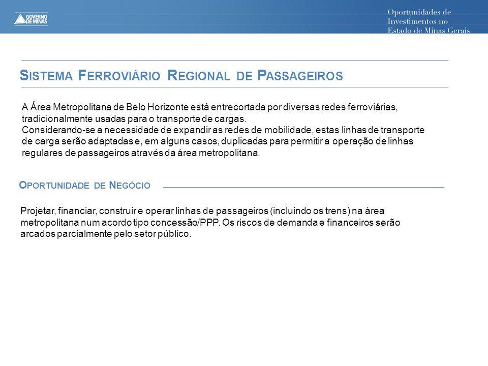 Sistema Ferroviário Regional de Passageiros Oportunidade de Negócio