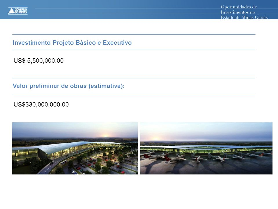 Investimento Projeto Básico e Executivo