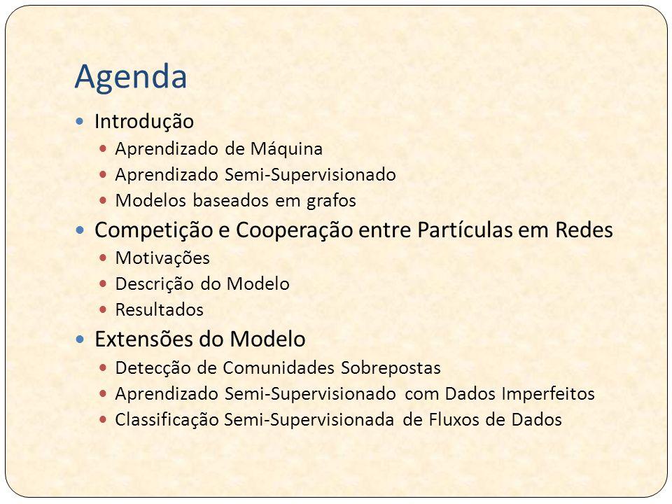 Agenda Competição e Cooperação entre Partículas em Redes
