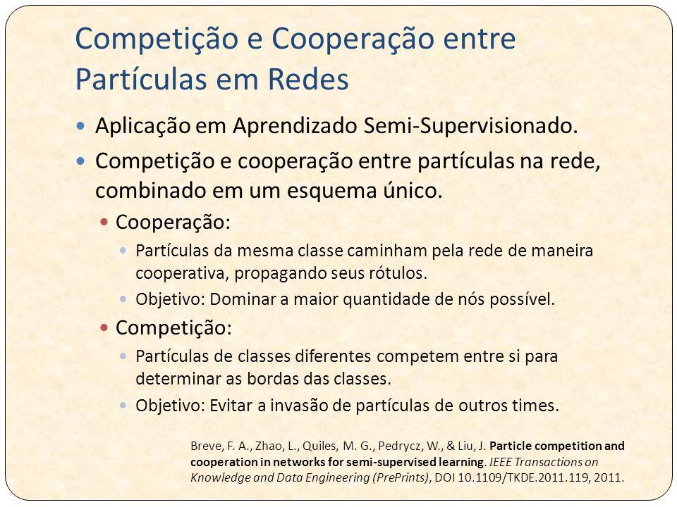 Competição e Cooperação entre Partículas em Redes