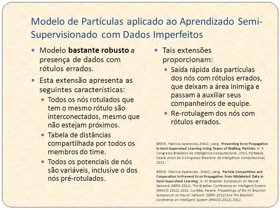 Modelo de Partículas aplicado ao Aprendizado Semi-Supervisionado com Dados Imperfeitos