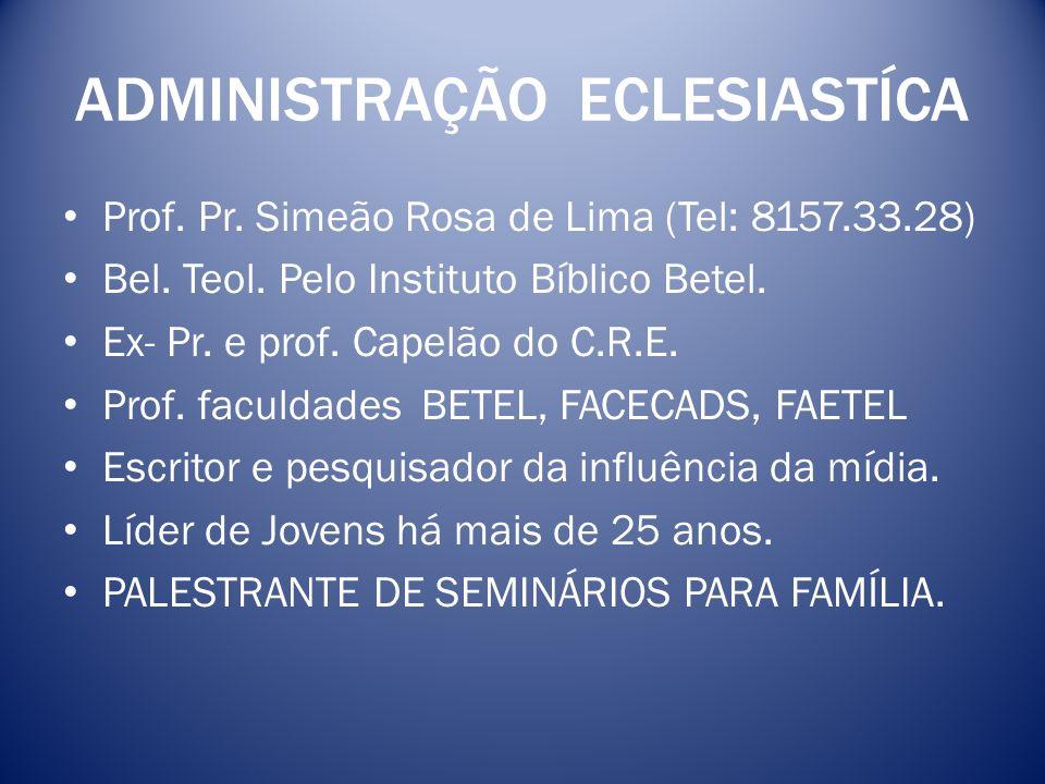 ADMINISTRAÇÃO ECLESIASTÍCA