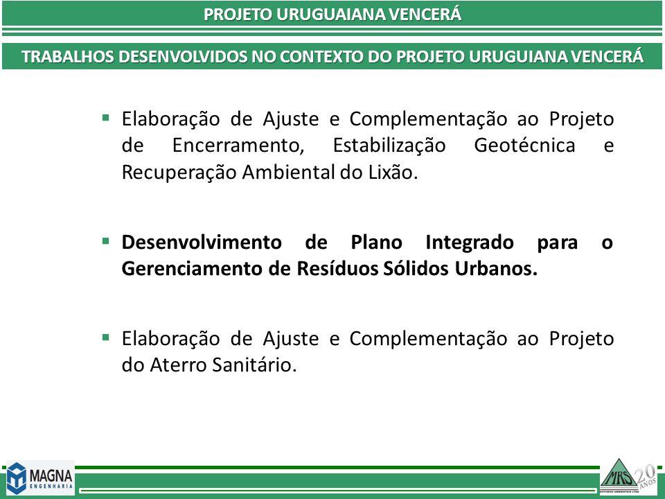 Elaboração de Ajuste e Complementação ao Projeto do Aterro Sanitário.