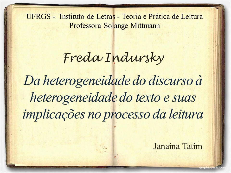 UFRGS - Instituto de Letras - Teoria e Prática de Leitura