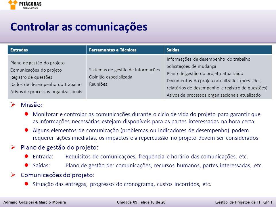 Controlar as comunicações