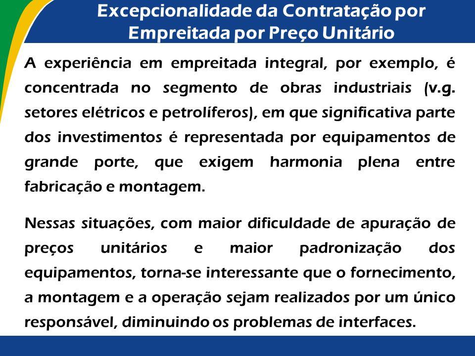 Excepcionalidade da Contratação por Empreitada por Preço Unitário
