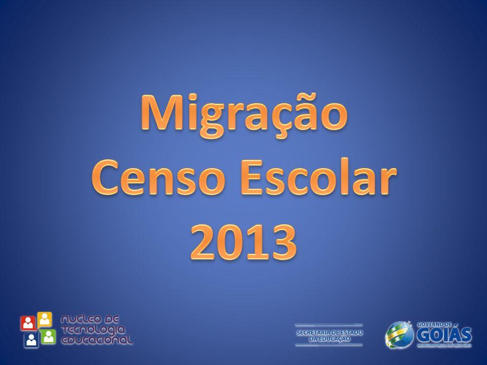 Migração Censo Escolar 2013