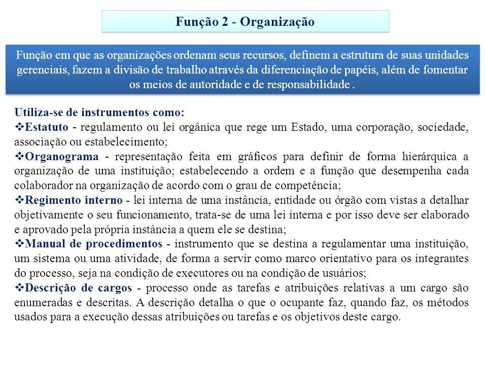 Função 2 - Organização