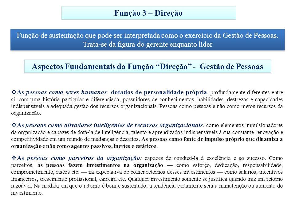 Aspectos Fundamentais da Função Direção - Gestão de Pessoas