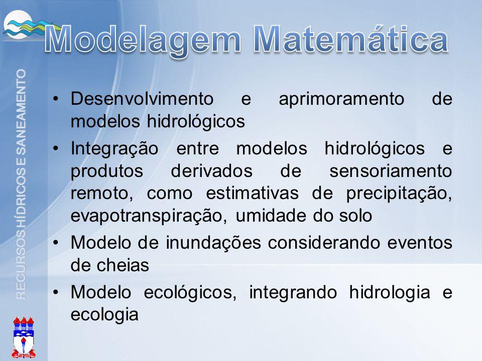 Modelagem Matemática Desenvolvimento e aprimoramento de modelos hidrológicos.