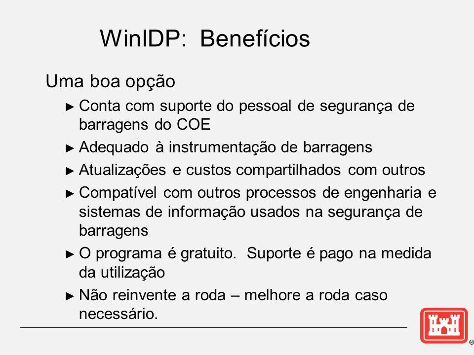 WinIDP: Benefícios Uma boa opção