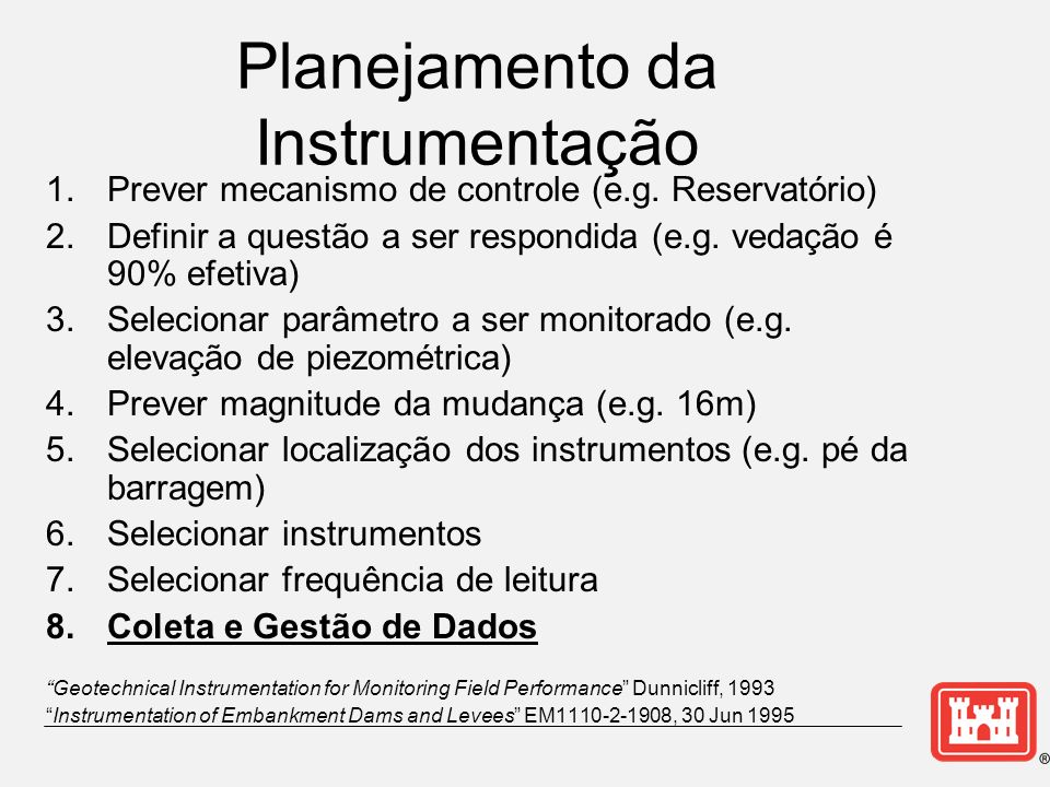 Planejamento da Instrumentação
