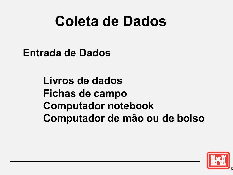 Coleta de Dados Livros de dados Entrada de Dados Fichas de campo