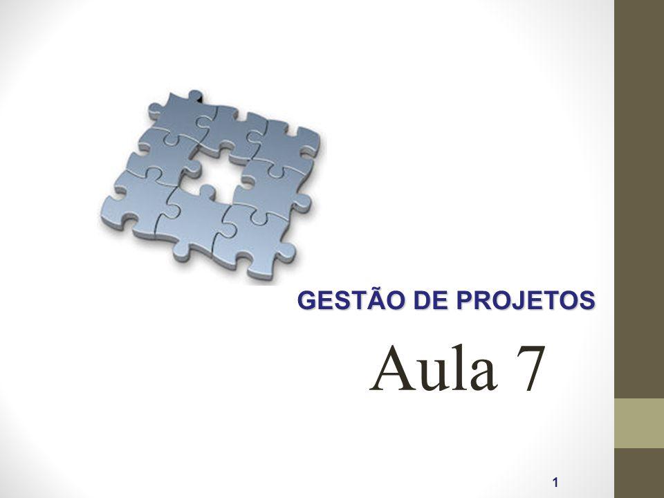 GESTÃO DE PROJETOS Aula 7 1