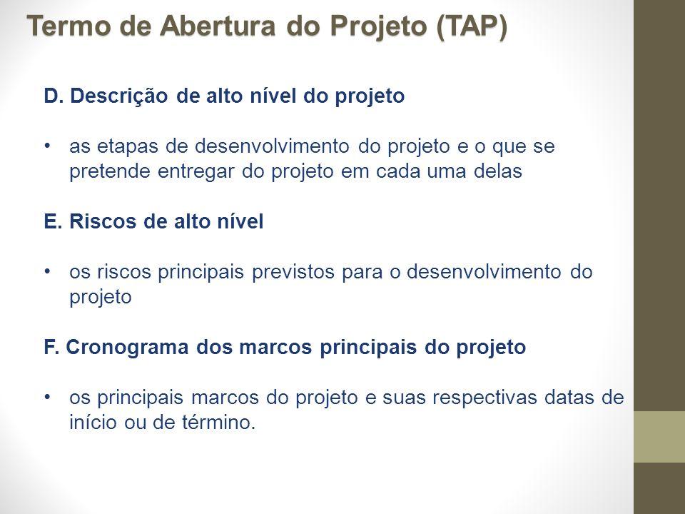 Termo de Abertura do Projeto (TAP)