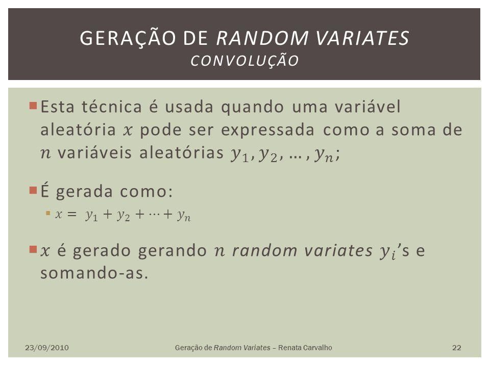 Geração de random variates convolução