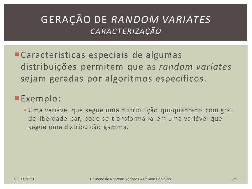 Geração de random variates caracterização