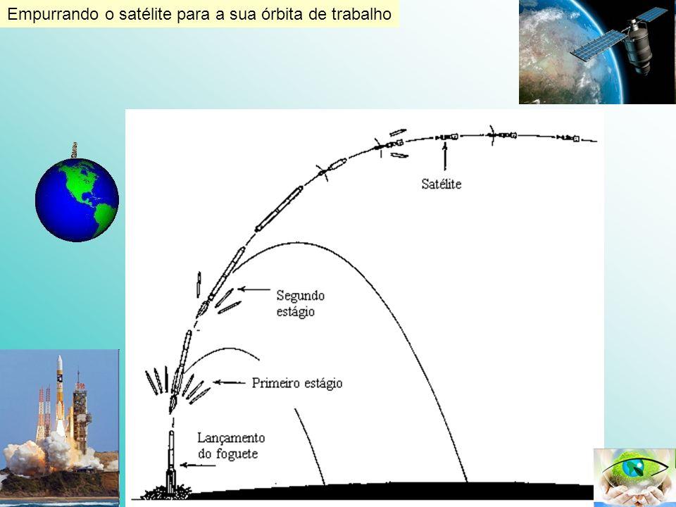 Empurrando o satélite para a sua órbita de trabalho
