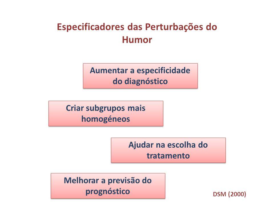 Especificadores das Perturbações do Humor