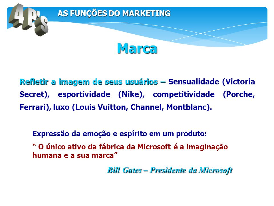 4 P s Marca AS FUNÇÕES DO MARKETING