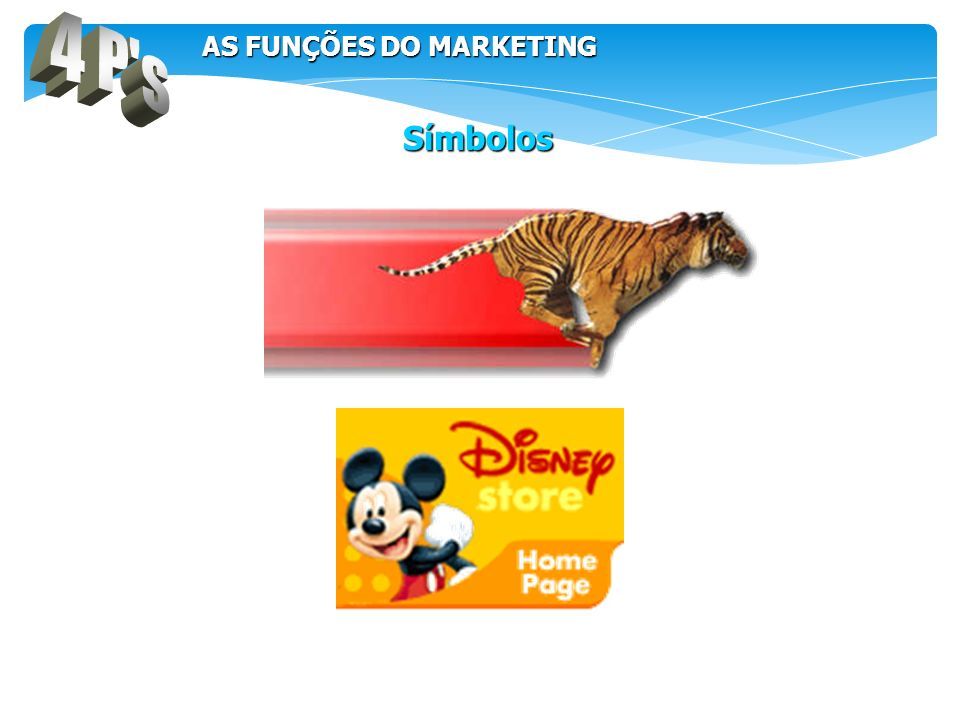 4 P s AS FUNÇÕES DO MARKETING. Símbolos.