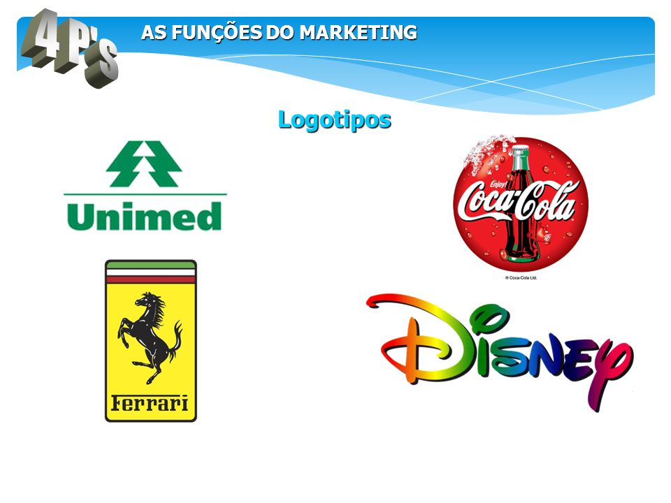4 P s AS FUNÇÕES DO MARKETING Logotipos