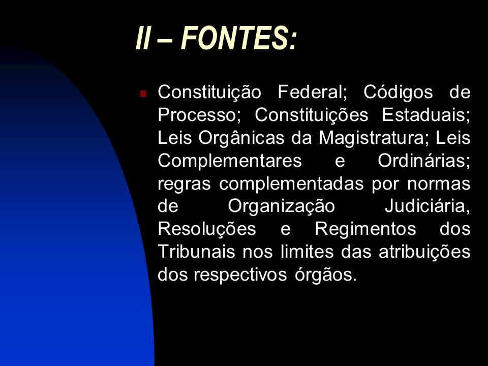 II – FONTES: