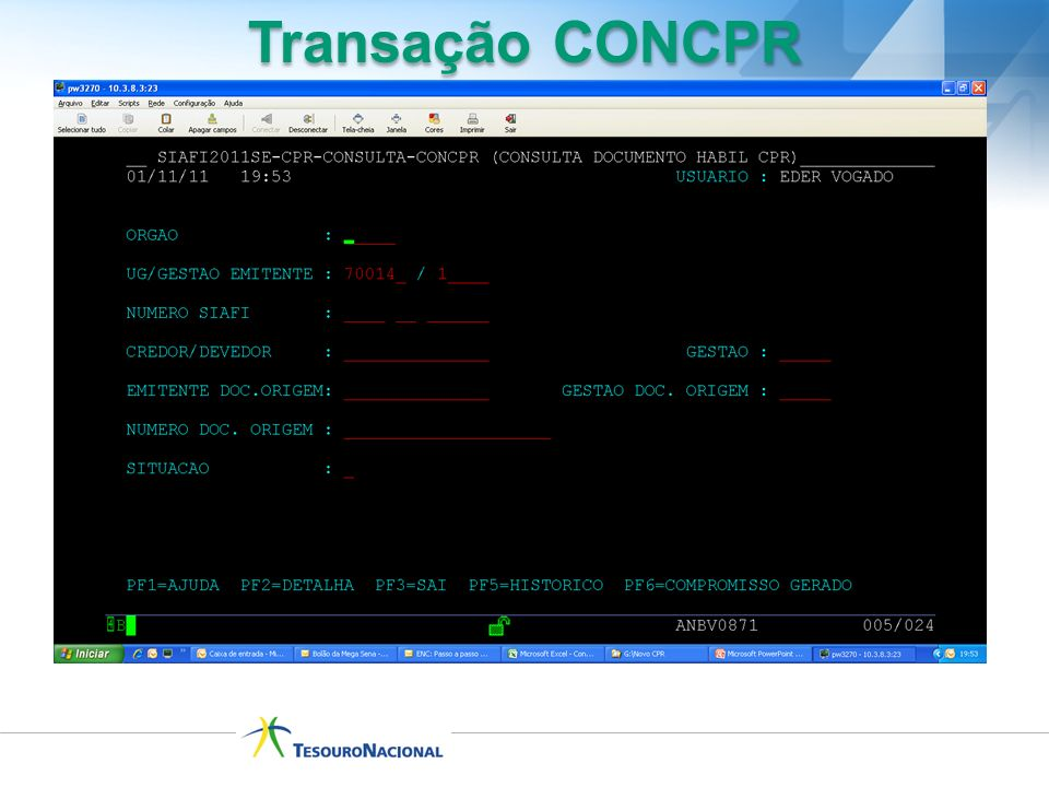 Transação CONCPR