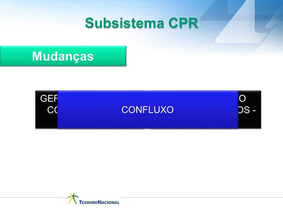 Subsistema CPR Mudanças GERENCIAMENTO DE COMPROMISSOS - GERCOMP