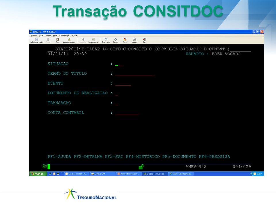 Transação CONSITDOC