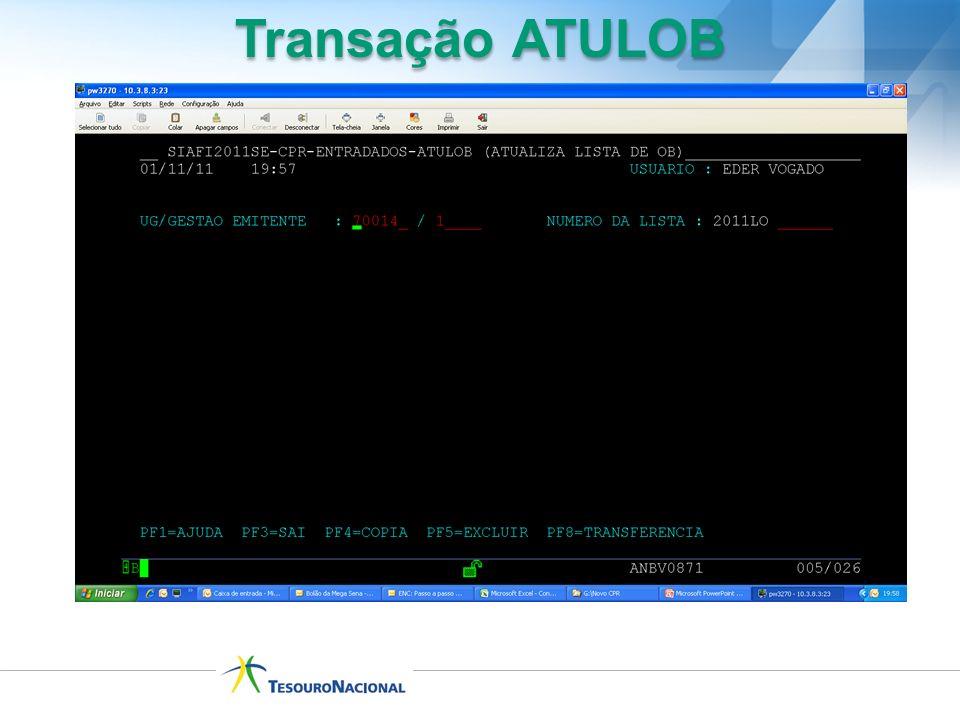 Transação ATULOB