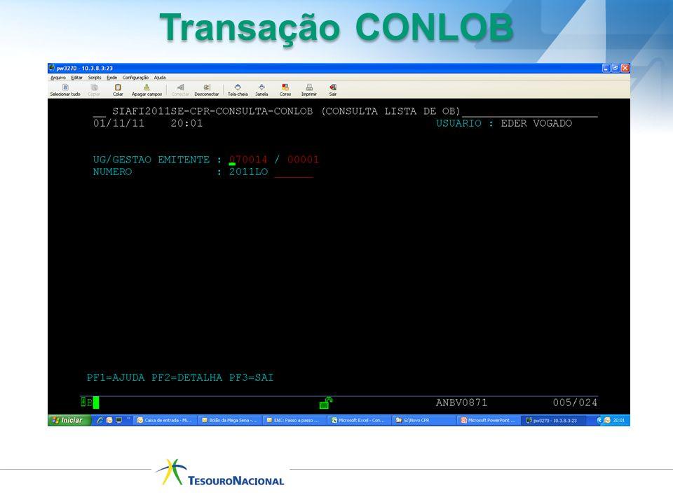 Transação CONLOB