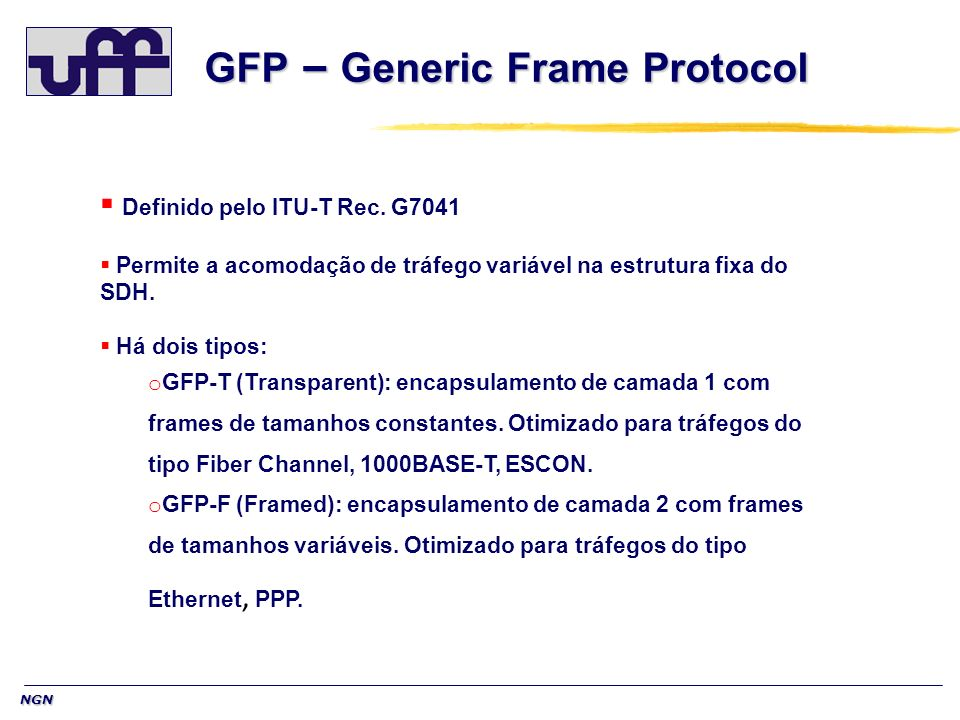 GFP – Generic Frame Protocol