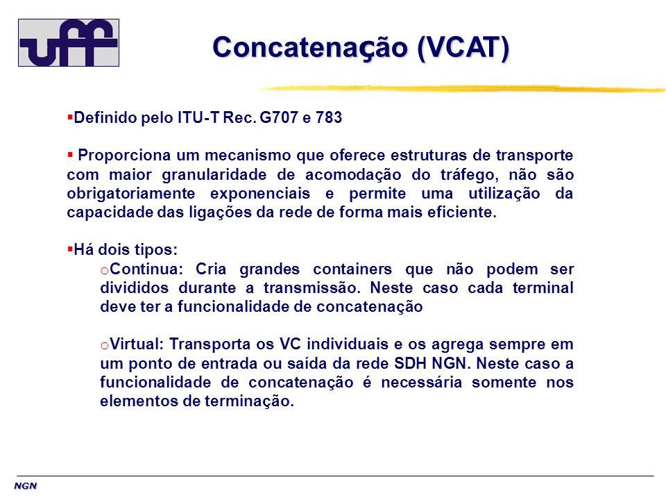 Concatenação (VCAT) Definido pelo ITU-T Rec. G707 e 783
