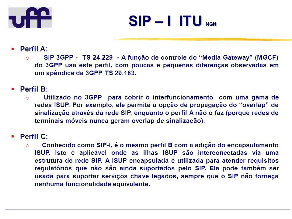 SIP – I ITU NGN Perfil A: Perfil B: Perfil C: