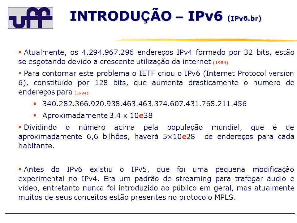 INTRODUÇÃO – IPv6 (IPv6.br)