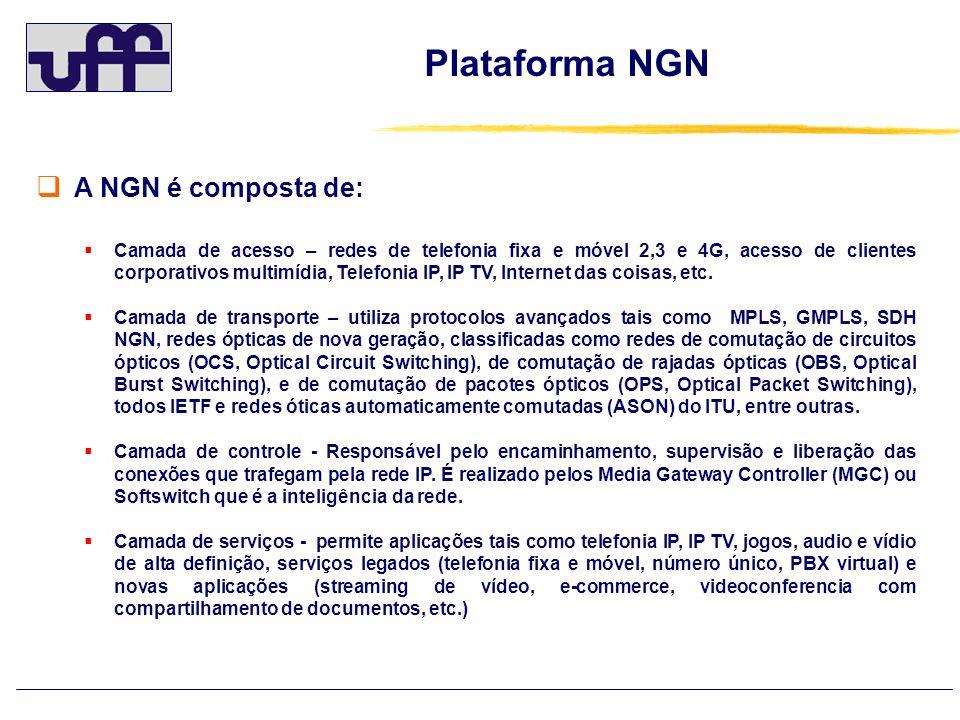 Plataforma NGN A NGN é composta de: