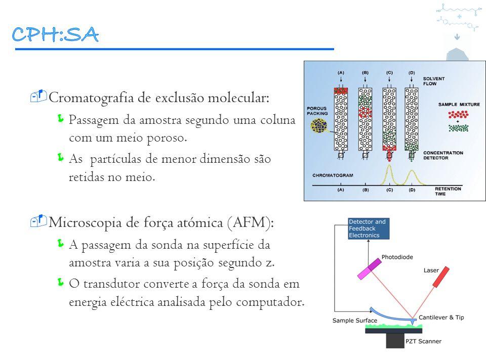 CPH:SA Cromatografia de exclusão molecular: