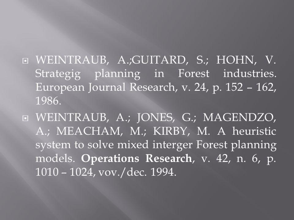 WEINTRAUB, A. ;GUITARD, S. ; HOHN, V