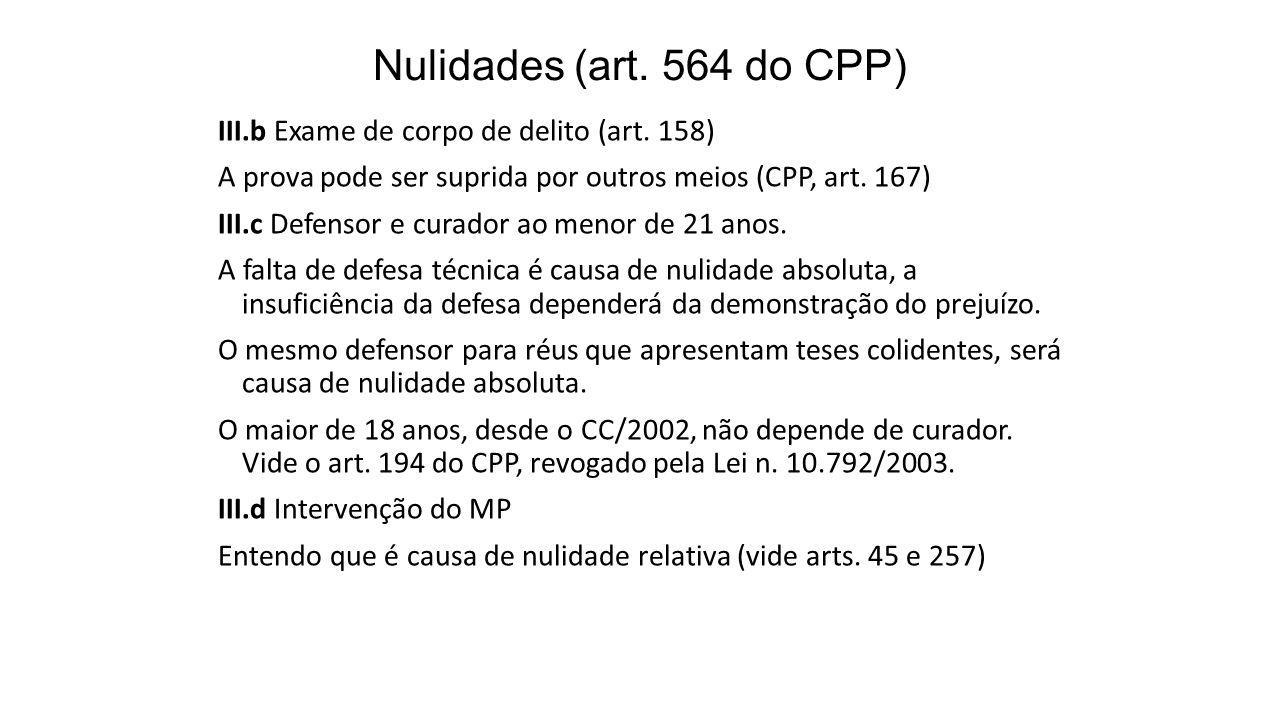 Nulidades (art. 564 do CPP)
