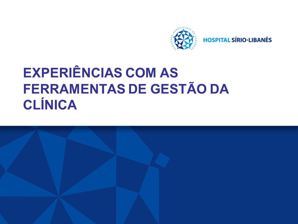 EXPERIÊNCIAS COM AS FERRAMENTAS DE GESTÃO DA CLÍNICA