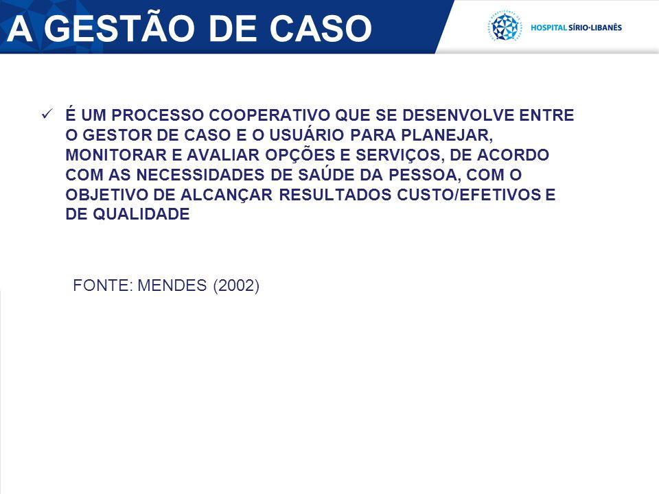 A GESTÃO DE CASO