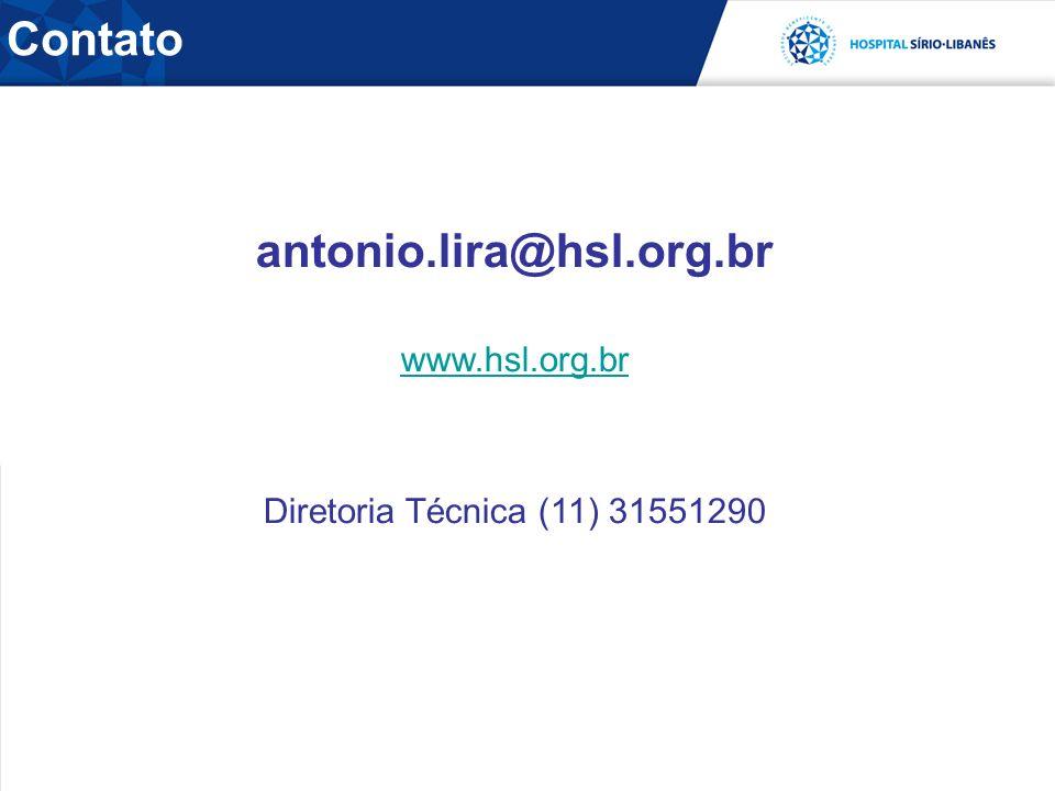 Contato antonio.lira@hsl.org.br www.hsl.org.br