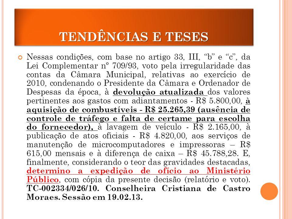 TENDÊNCIAS E TESES
