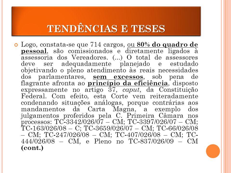 TENDÊNCIAS E TESES TENDÊNCIAS E TESES