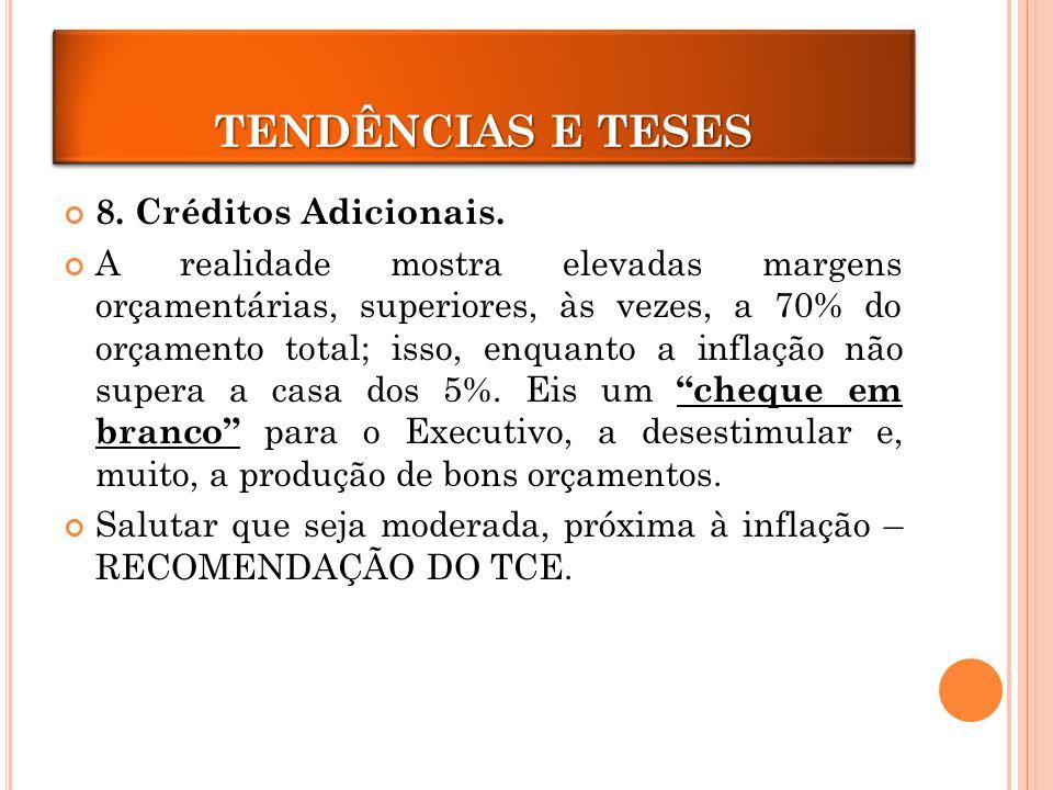 CRÉDITOS ADICIONAIS TENDÊNCIAS E TESES 8. Créditos Adicionais.