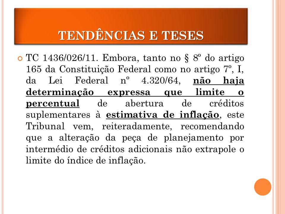 CRÉDITOS ADICIONAIS TENDÊNCIAS E TESES