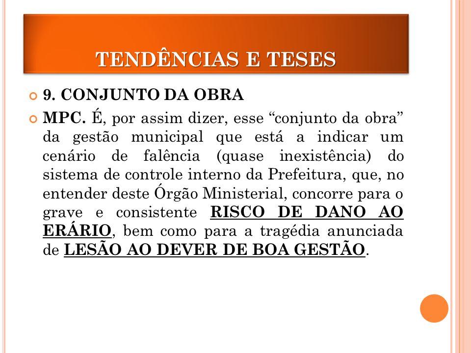 TENDÊNCIAS E TESES 9. CONJUNTO DA OBRA
