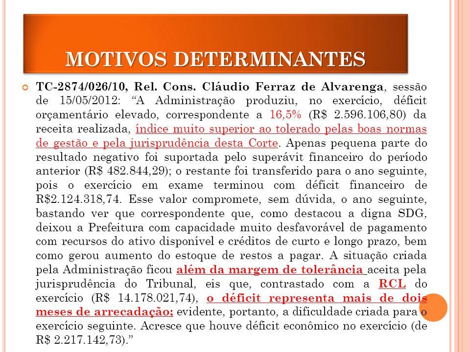 MOTIVOS DETERMINANTES